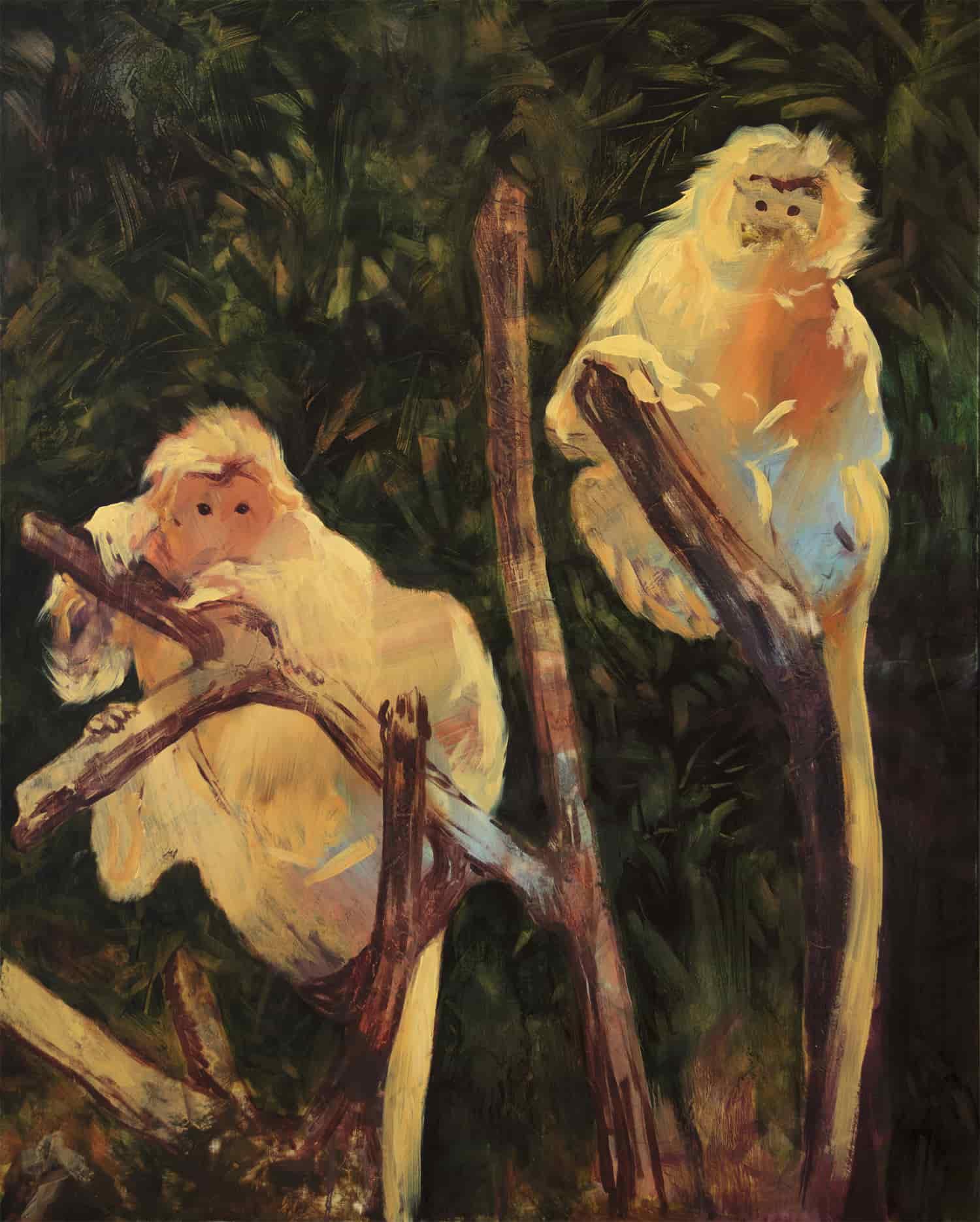 Lorella Paleni, Stray 4, huile sur alumnacomb, 70 x 60 cm, 2020