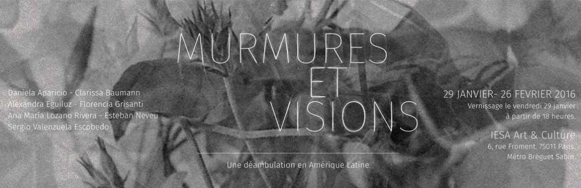Réalisation étudiante Mastère Marché de l'art - Exposition Murmures et visions