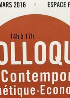 COLLOQUE ART CONTEMPORAIN ESTHETIQUE ET ECONOMIE
