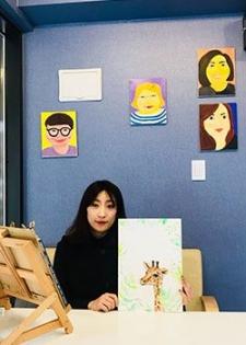 Yunmi Cho étudiante marché de l'art